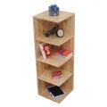 KGT68001 - Kệ sách góc tường gỗ cao su 5 tầng - 30x30x120 (cm)