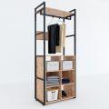Kệ quần áo VEGA gỗ khung sắt đa năng 80x45x200(cm) KQA68040