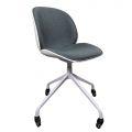 GBC68037  - Ghế bàn cao nệm vải mặt ghế xoay 360 độ