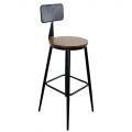 Ghế Bar có lưng tựa mặt gỗ màu nâu GBSK002