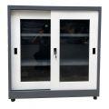 Tủ hồ sơ sắt, tủ tài liệu sắt 3 ngăn cửa kính lùa TSLP012