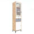 Tủ trưng bày, tủ gỗ cửa kính nhỏ gọn gỗ cao su KTB68092