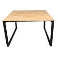 BNV68044 - Bàn cụm 2 gỗ cao su chân 25x50 - 120x120 (cm)