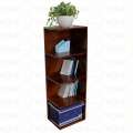 KGT68006 - Kệ sách góc tường gỗ 5 tầng màu cánh gián - 40x30x120 (cm)