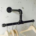 GQA68012 - Giá treo quần áo gắn tường ống nước rộng 50cm