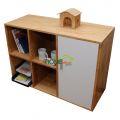 THS68003 - Tủ hồ sơ văn phòng đơn giản gỗ cao su - 100x40x70 (cm)