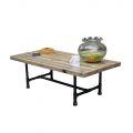 TT68006 - Bàn trà phòng khách gỗ thông chân ống nước Tea Table - 120x60x35