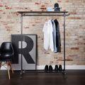 GQA68013 - Giá treo quần áo ống nước chân đứng 120x40x160cm