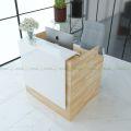 BLT68006 - Bàn lễ tân đon giản MiWhite - 100x80x100 (cm)