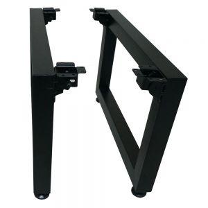 CHB68003 - Chân bàn sắt gấp gọn 32cm sơn tĩnh điện màu đen