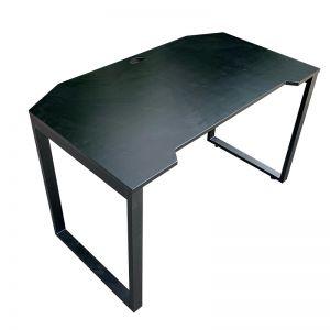 Bàn GamingDesk 120x70cm gỗ cao su PU đen chân sắt lắp ráp GD68008