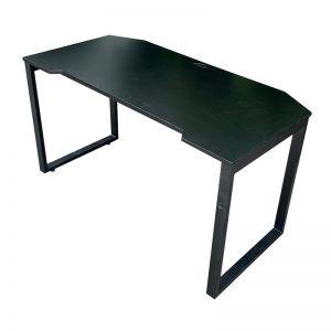 GD68009- Bàn GamingDesk 70x140cm gỗ cao su PU đen chân sắt lắp ráp