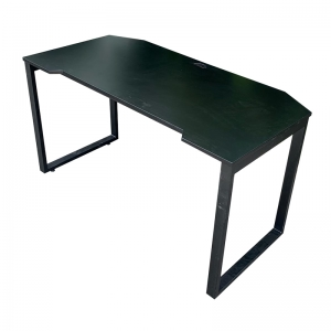 Bàn GamingDesk 140x70cm gỗ cao su PU đen chân sắt lắp ráp GD68009