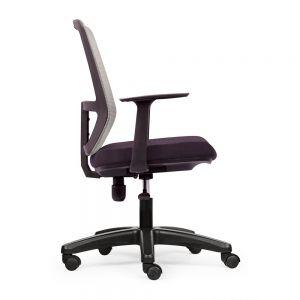 HOM1056-02 - Ghế nhân viên tựa lưng màu xám, chân nhựa