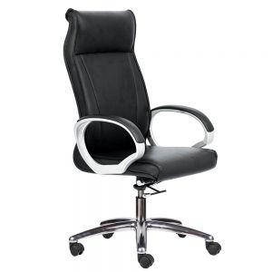 HOM1027-01 - Ghế xoay lưng cao màu đen