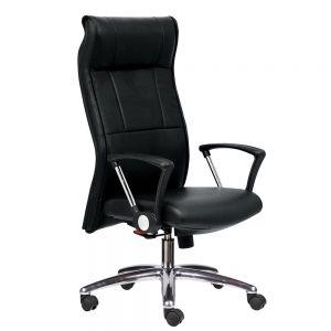 HOM1033-01 - Ghế xoay văn phòng lưng cao màu đen