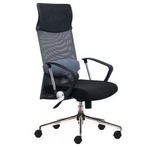 Ghế xoay văn phòng lưng lưới có tựa đầu HOM1014-01