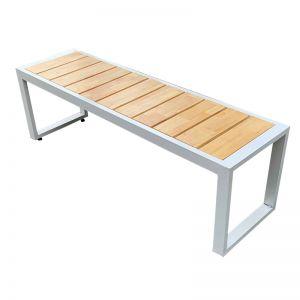 Ghế băng dài nan gỗ cao su