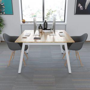 BNV68062 - Bàn cụm 2 gỗ cao su chân sắt vuông 50mm lắp ráp 120x120x75cm