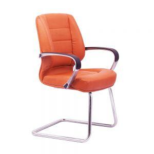 HOCQ68001 - Ghế chân quỳ nệm màu cam, tay nhôm cố định