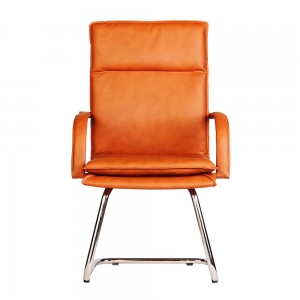 HOCQ68008 - Ghế chân quỳ phòng họp bọc da PU màu cam