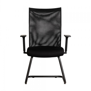 HOCQ68007 - Ghế chân quỳ phòng họp lưng lưới, nệm đen, tay điều khiển 2 chiều