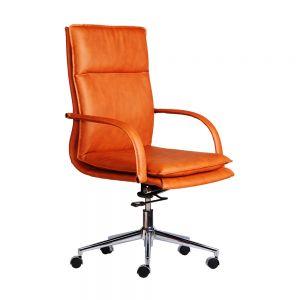 Ghế giám đốc bọc da cao cấp chân xoay Sleek 01 HOGVP002