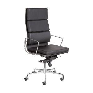 HOGVP010 - Ghế văn phòng bọc da cao cấp chân xoay