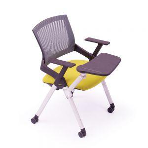 GXVP68011 - Ghế xếp văn phòng có bàn và bánh xe di động