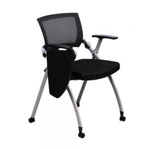 GXVP68003  - Ghế xếp văn phòng lưng lưới có bàn và bánh xe