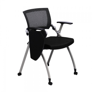Ghế xếp văn phòng lưng lưới có bàn và bánh xe Bambi 02 GXVP68003