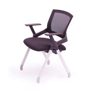Ghế xếp văn phòng lưng lưới, nệm đen Flex 01 GXVP68009