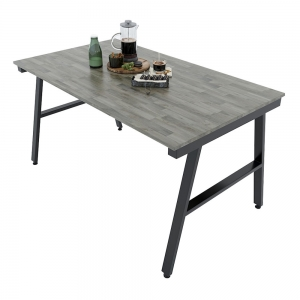 BA68016 - Bàn ăn 80x140cm gỗ cao su chân sắt
