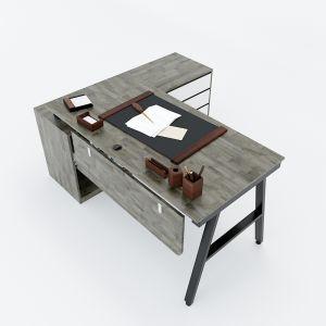HBAC023 - Bàn giám đốc 160x140 (mặt bàn 70) AConcept chân sắt lắp ráp