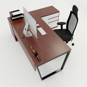 HBTC024 - Bàn giám đốc 180x160 Trapeze Concept lắp ráp