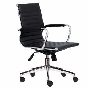 Ghế xoay văn phòng lưng trung bọc da hiện đại HOM1007-02