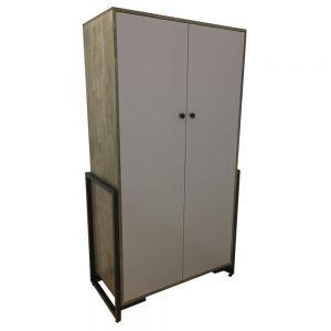 TQA68011 - Tủ quần áo Ferro gỗ cao su PU nâu ( 106x55x190cm)
