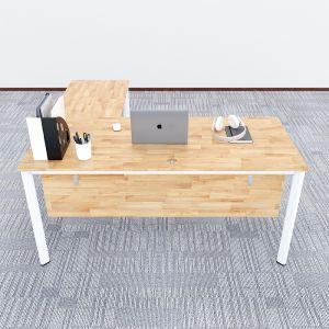 HBOV017 - Bàn chữ L 160x150 hệ Oval Concept lắp ráp