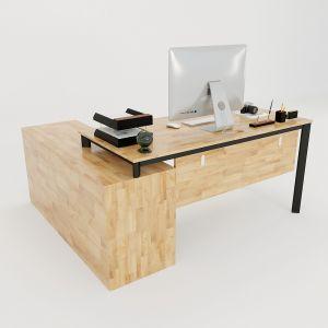 HBOV021 - Bàn giám đốc 170x150 hệ Oval Concept lắp ráp