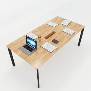 Bàn họp 200x100 hệ Oval Concept lắp ráp HBOV010