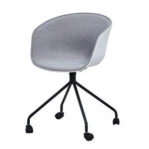 GBC68032 - Ghế bàn cao lót nệm chân sắt có bánh xe di động