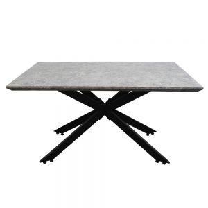 BA68022 - Bàn ăn gỗ MDF giả đá chân sắt 140x80x75cm