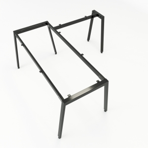 HCAT017 - Chân bàn chữ L hệ Aton Concept 160x160 lắp ráp