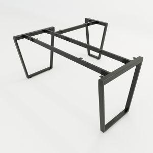 HCTC018 - Chân bàn chữ L hệ Trapez Concept 160x150 lắp ráp