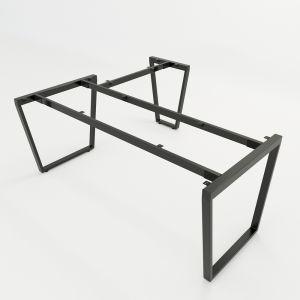 HCTC020 - Chân bàn chữ L hệ Trapez Concept 180x160 lắp ráp