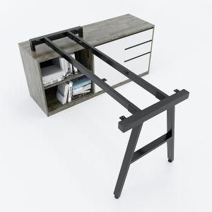 HCAC022 - Chân bàn gác tủ hệ AConcept 1400x600mm lắp ráp