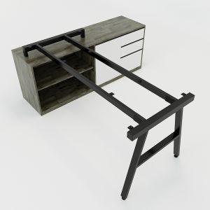 HCAC024 - Chân bàn gác tủ hệ AConcept 160x80 lắp ráp