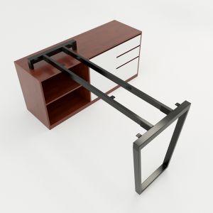 HCTC021 - Chân bàn gác tủ hệ Trapez Concept 1400x600m lắp ráp