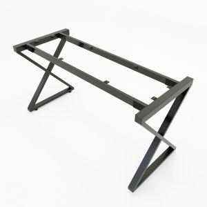 HCXC005 - Chân bàn sắt hệ XConcept 140x70 lắp ráp