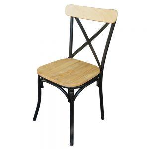 Ghế cafe, ghế nhà hàng lưng tựa bằng sắt sơn tĩnh điện GBC68033